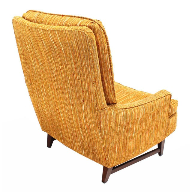 Textile Selig Lounge Chair and Matching Ottoman with Upholstery For Sale - Image 7 of 9