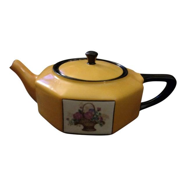 1957 Antique Steubenville China Teapot For Sale