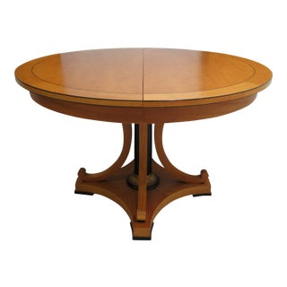 Modern Baker Furniture Biedermeier Style Neo Classical Dining Table For Sale