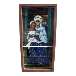 """""""Mary With Jesus"""" Motif Stained Glass Window"""