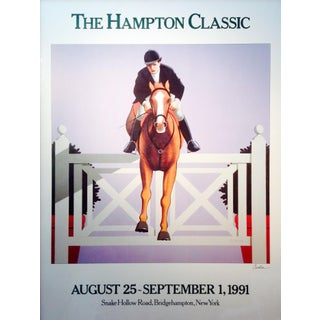 1991 The Hampton Classic Poster By Lynn Curlee For Sale
