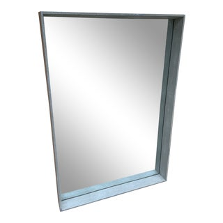 Made Goods David Wall Mirror in Cool Grey For Sale