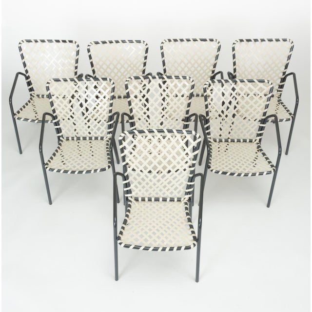 Set of Eight Patio Dining Chairs by Ames Aire For Sale - Image 9 of 9