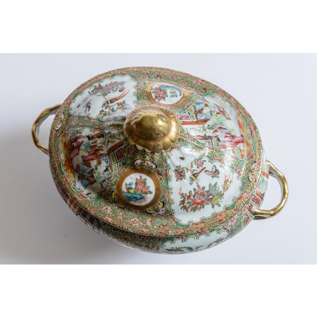 Ceramic Rose Medallion Soup Tureen For Sale - Image 7 of 8