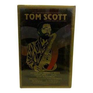 1978 Tom Scott Gold & Black Concert Poster For Sale