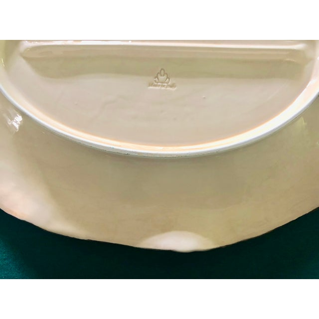 Traditional Italian Blue and Cream Porcelain Platter For Sale - Image 3 of 4
