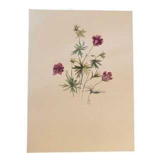 """Nancy Smith """"You Belong Among the Wildflowers"""" Original Watercolor Botanical Painting For Sale"""