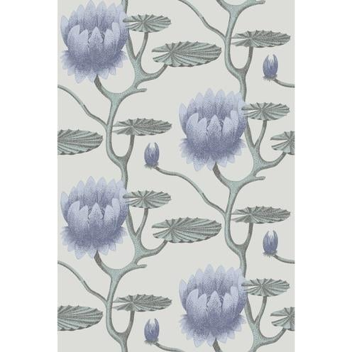 Contemporary Cole & Son Summer Lily Wallpaper Roll - Blu/Aq/Pearl For Sale - Image 3 of 3