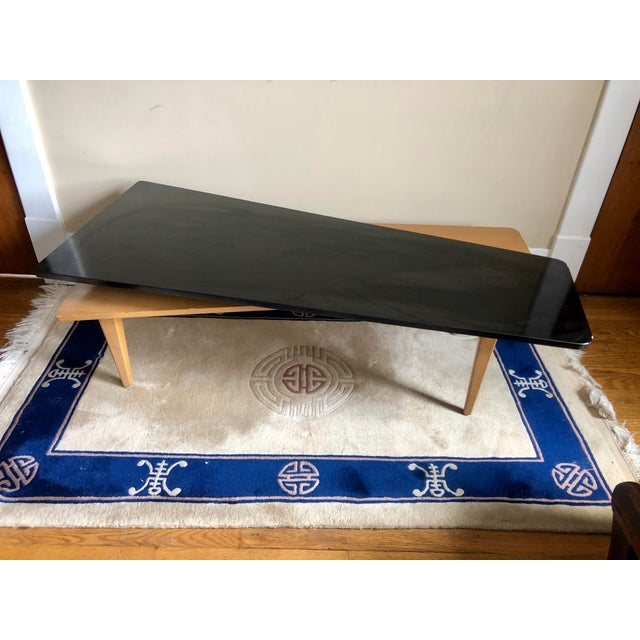 Mid-Century Modern Mid Century Switchblade Boomerang Coffee Table For Sale - Image 3 of 11