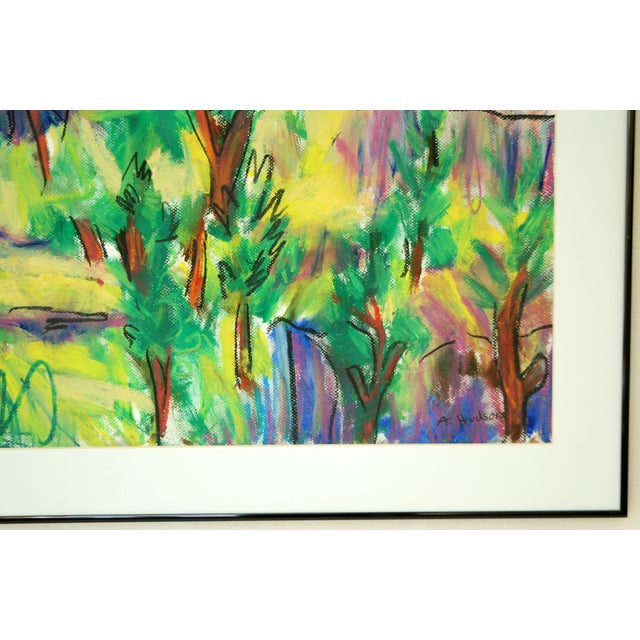 'Green Trees' Original Acrylic Abstract Painting - Image 2 of 4