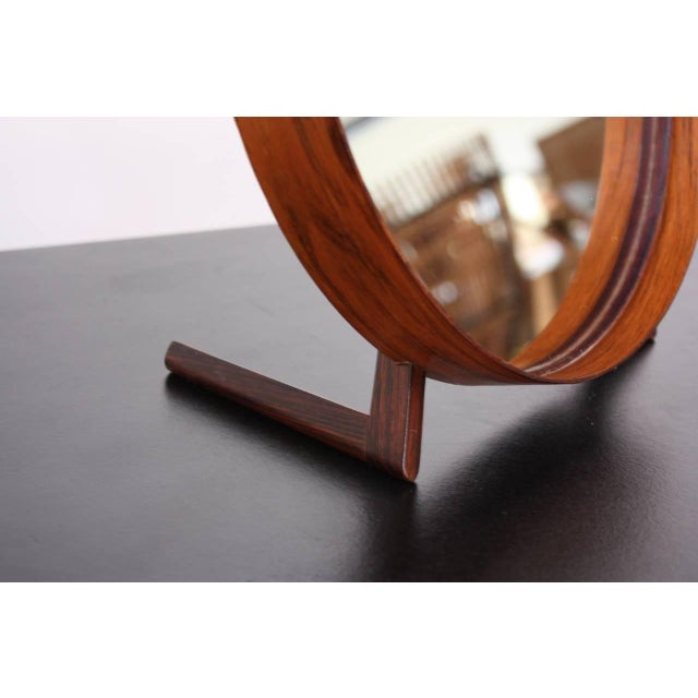 Swedish Rosewood Table Mirror by Uno and Östen Kristiansson for Luxus - Image 8 of 9