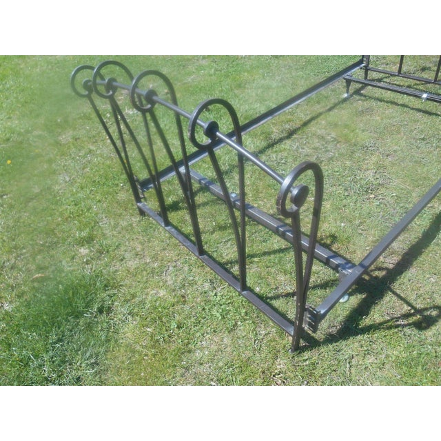 Wrought Iron Sleigh Twin Bed Frame - Image 7 of 10
