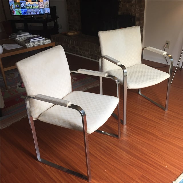 Milo Baughman Vintage Accent Chairs - Pair - Image 7 of 11