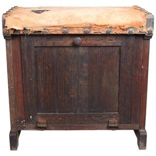 Early 20th Century Primitive Arts & Crafts Antique Grain Painted Shoe Shine Box For Sale