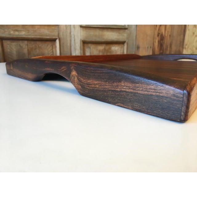 Don Shoemaker Don Shoemaker Exotic Hardwood Serving Tray For Sale - Image 4 of 13