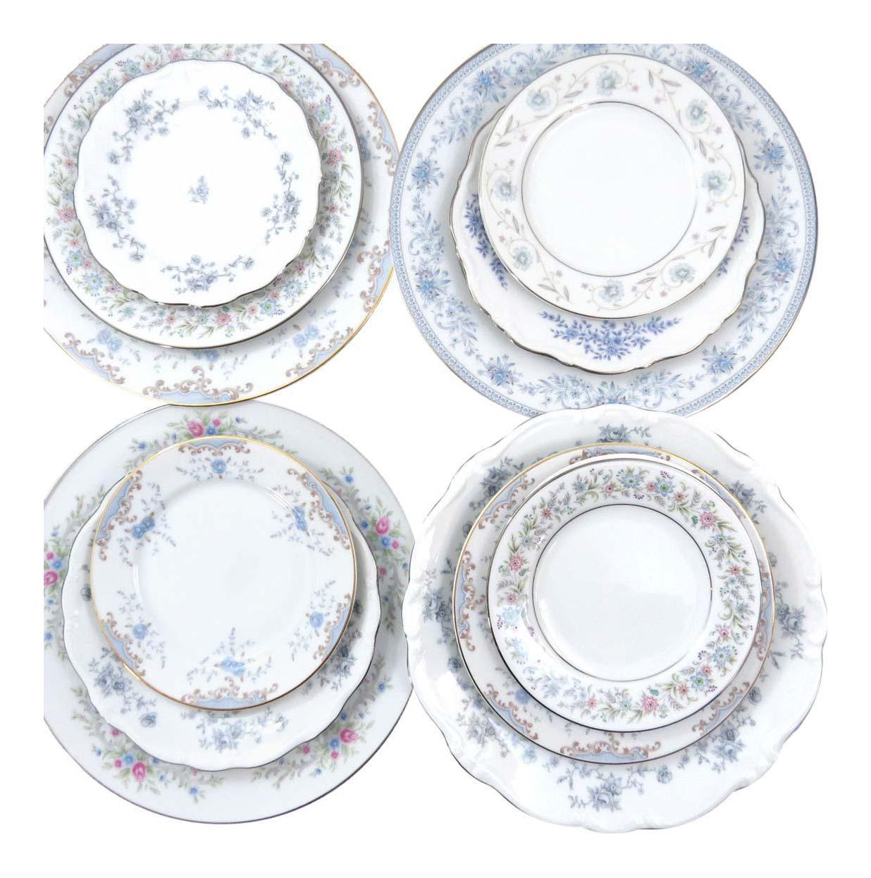 Vintage Mismatched Fine China Dinnerware Set - Service for 4  sc 1 st  Chairish & Vintage Mismatched Fine China Dinnerware Set - Service for 4 | Chairish