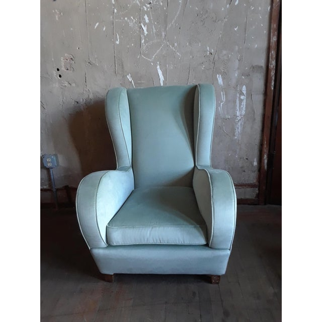 These wingback chairs are not only comfortable but attractive as well. The soft velvet and curved back hugs you in and...