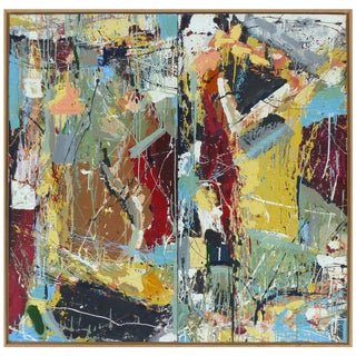 "William Phelps Montgomery Abstract Mixed-Media Painting ""Frenzy"", 2016 For Sale"