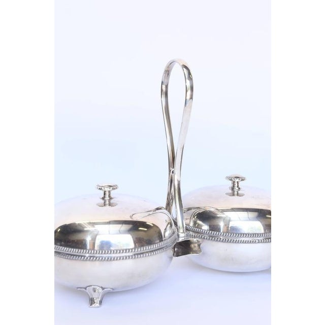 French Hotel Silver Double Server 'Plasait Orfevre', France For Sale - Image 3 of 7