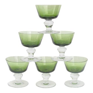 Belgian Artisan Champagne Coupes, Set of 6 For Sale