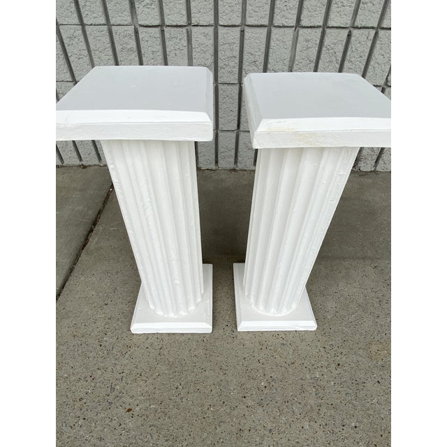 Early 20th Century Antique Columns Re-Purposed as Accent Tables - a Pair For Sale - Image 5 of 6