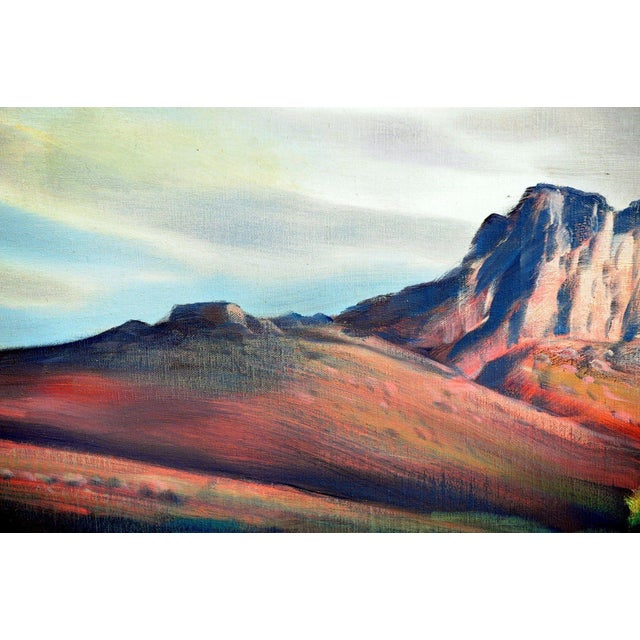 """Paul Lauritz """"Zion National Park"""" Oil Painting - Image 4 of 11"""