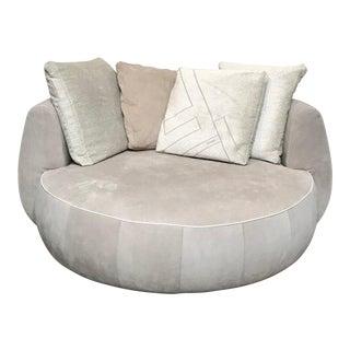 Modern Fendi Moony Swivel Sofa Love Seat For Sale
