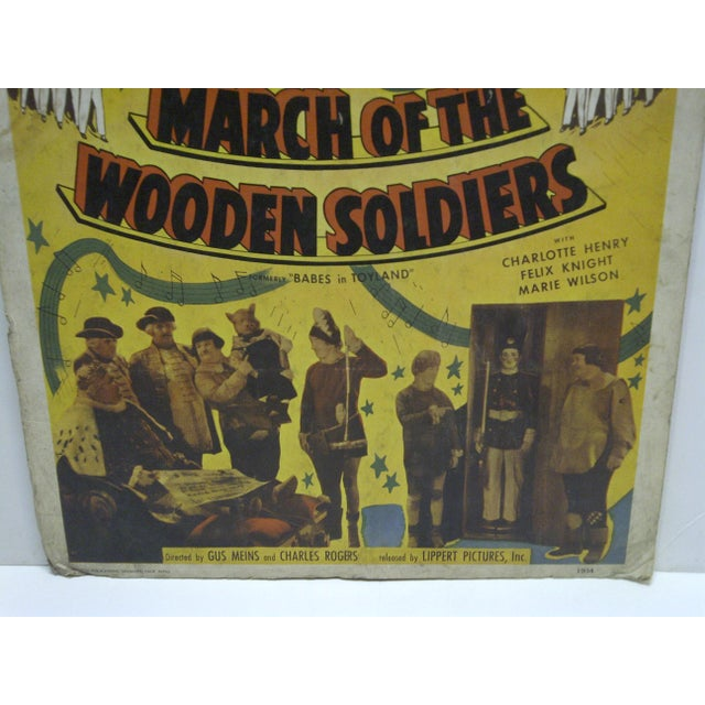 "Laurel & Hardy ""March of the Wooden Soldiers"" Movie Poster For Sale - Image 4 of 4"