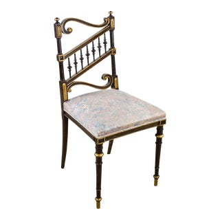 Victorian Style Spindle Back Side Chair For Sale