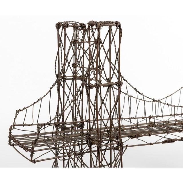 Mid Century Modern Vintage Brutalist Wire Bridge Table Sclupture For Sale - Image 9 of 10