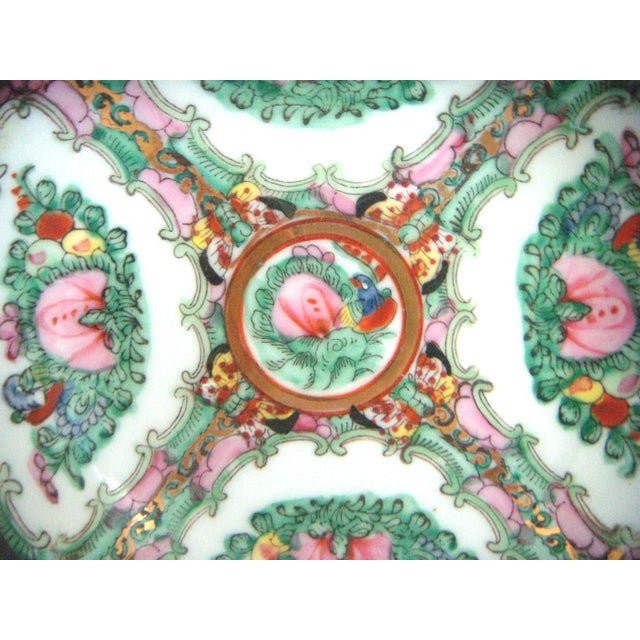 Maas Brothers Chinese Rose Canton Plate & Stand - Image 8 of 8
