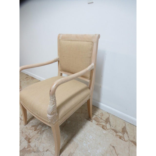Great shape, tight and sturdy..Lite wear...Small chip. Seat height 18. Arm height 26. Please see photos as they are...