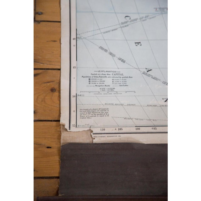 Vintage Cram's Pull Down Map of South America For Sale - Image 4 of 5