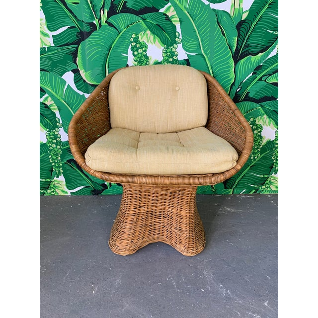 1970s Sculptural Wicker Dining Set, Table and Four Chairs For Sale - Image 5 of 10