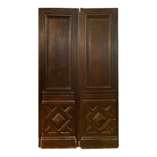 18th Century Large Antique French Oak Doors For Sale