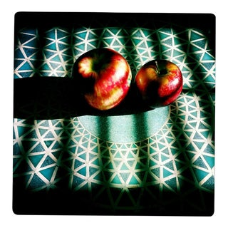 """Apples on Mosaic Table in Sunlight"" Original Photograph For Sale"