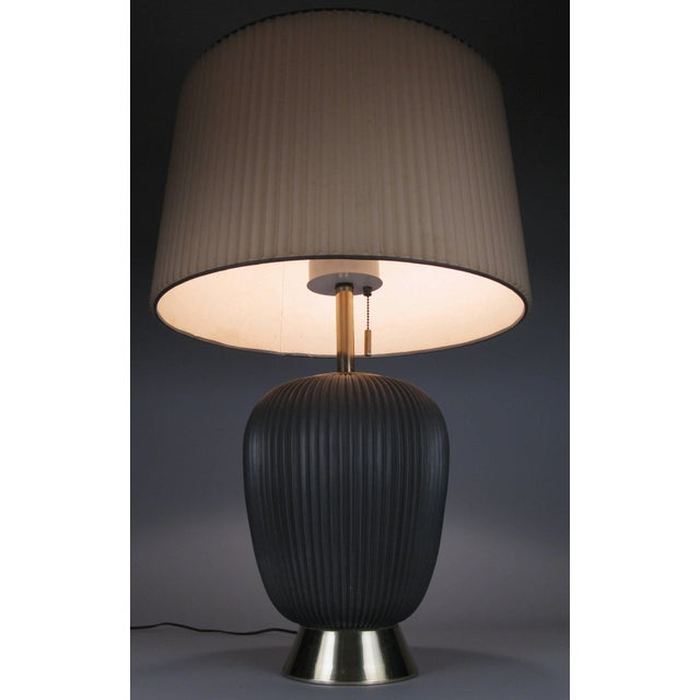 Mid-Century Modern Modern 1950's Ceramic Lamp by Gerald Thurston for Lightolier For Sale - Image 3 of 8
