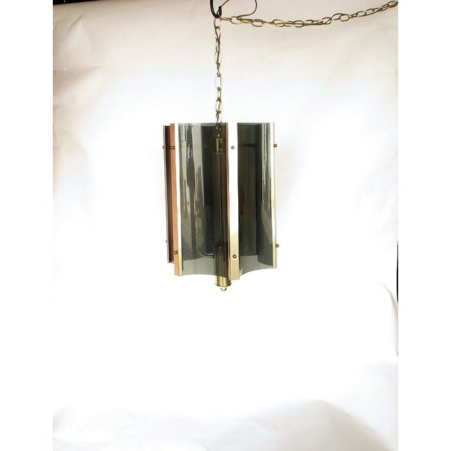1960s Lucite And Brass Pendant - Image 5 of 5