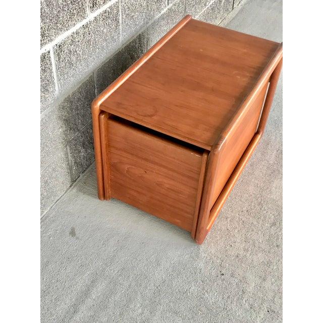 Danish Modern Wood File Cart For Sale - Image 4 of 9