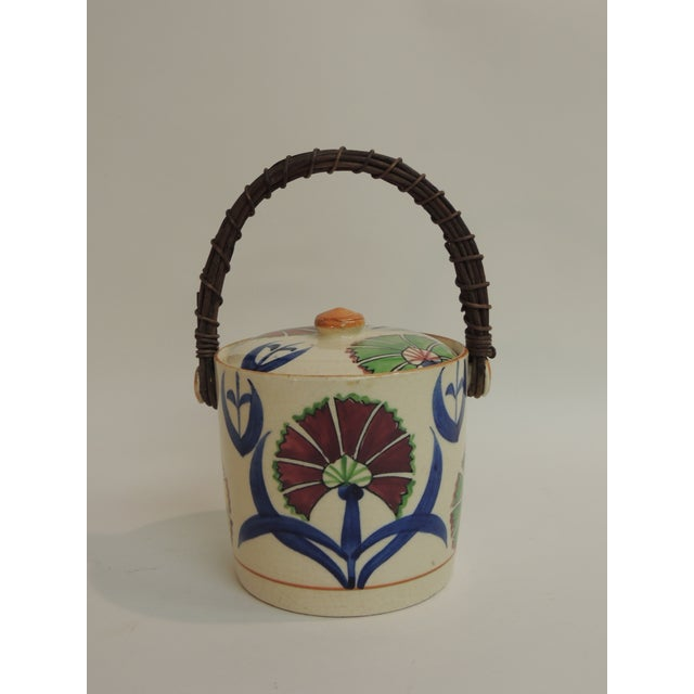 Vintage Floral Hand-Painted Ice Bucket For Sale - Image 5 of 5