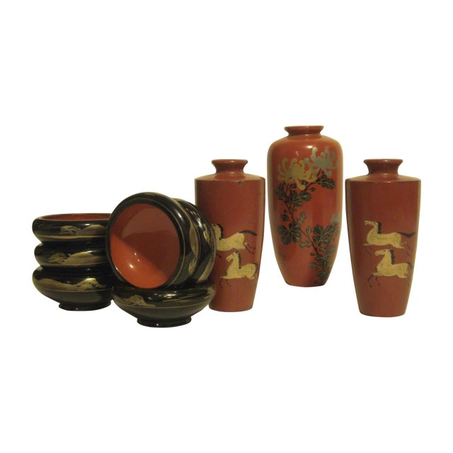 Antique & Vintage Japanese Lacquer-Ware - 9 - Image 1 of 11