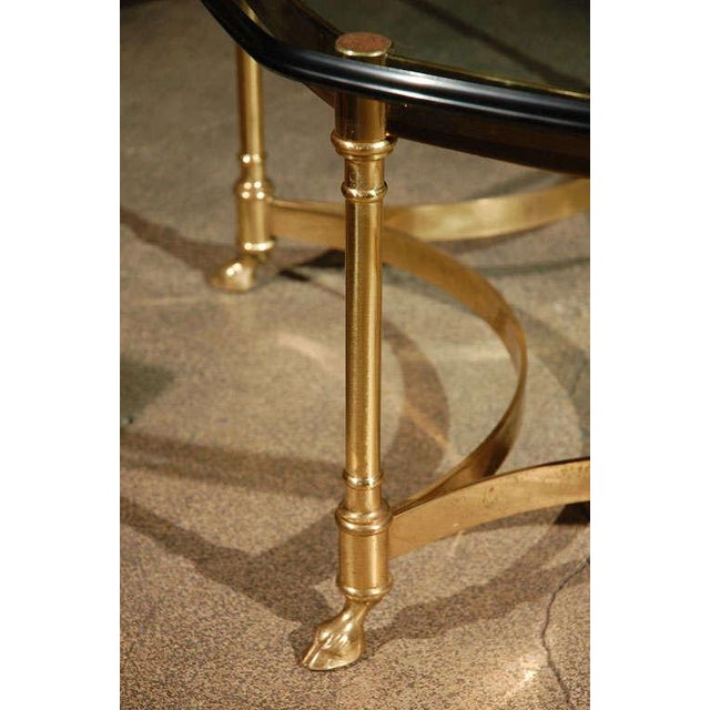 Mid 20th Century Polished Brass and Glass Octagonal Coffee Table, La Barge For Sale - Image 5 of 9