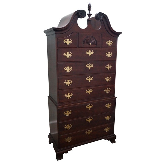 Statton Chippendale Style Highboy Dresser - Image 1 of 10