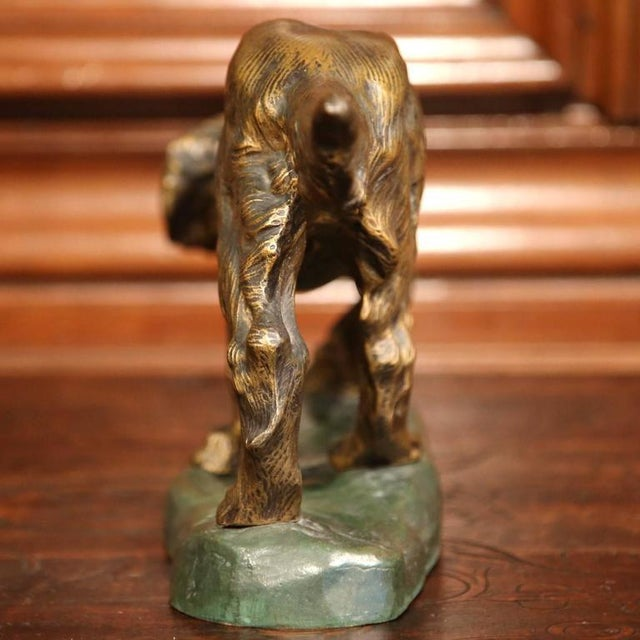 Bronze Early 20th Century French Patinated Bronze Hunting Dog Signed T. Cartier For Sale - Image 7 of 8