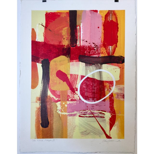 Denmark does color! This mixed media painting on paper is 22.5 x 30. Actual image size is 18.5 x 25.25. M.F.A. University...