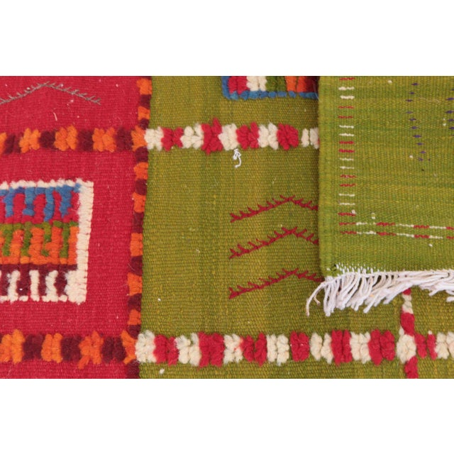 """Aknif Moroccan Runner Rug - 1'11"""" x 4'11"""" For Sale - Image 4 of 4"""