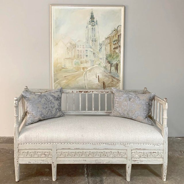 Mid 19th Century 19th Century Swedish Painted Day Bed ~ Bench For Sale - Image 5 of 13