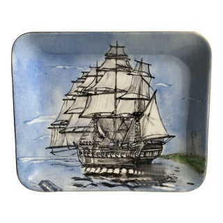 1970s Nautical Porcelain Tray For Sale