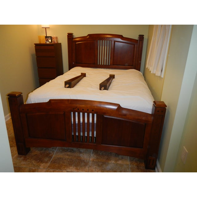 Thomasville Queen Size Cherry Bed - Image 2 of 8