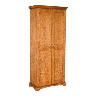 19th Century Swedish Birch Two Door Cabinet For Sale
